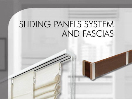 Sliding panels system and fascias