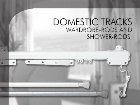 Domestic tracks, wardrobe-rods and shower-rods