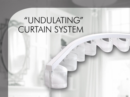 """Undulating"" curtain system"