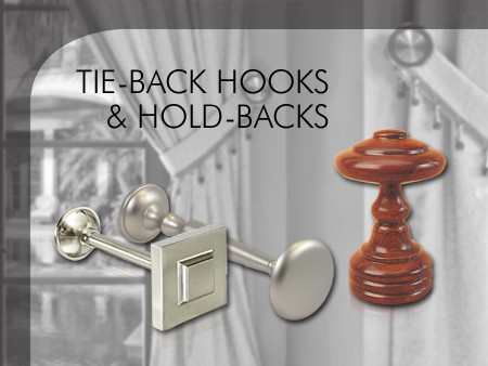 Tie-back hooks & hold-backs