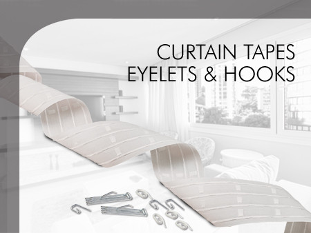 Curtain tapes, eyelets & hooks
